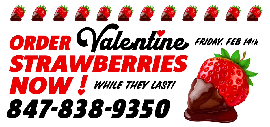 Call to order Valentine's Day Strawberries